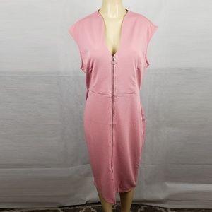 Love J Mauve Sleeveless Midi Dress Plus Size 2X